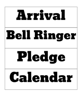 Class Schedule Cards: Simple Plain + 8 blank cards