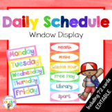 Class Schedule Cards Visual Display {EDITABLE}