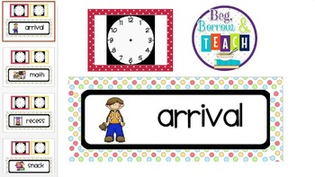 Class Schedule Cards and Clocks