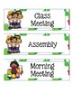 Class Schedule Cards with Cactus Theme