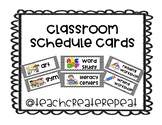 Class Schedule Cards (with pictures!)