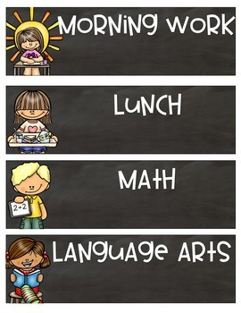 Class Schedule {Chalkboard Theme} -EDITABLE