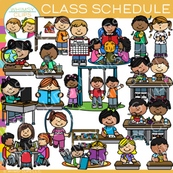 Class Schedule Clip Art By Whimsy Clips Teachers Pay