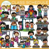Class Schedule Clip Art {Whimsy Clips School Clip Art}