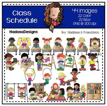 Class Schedule Clip Art Set