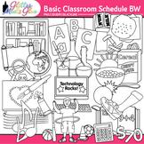 Class Schedule Clip Art {Back to School Supplies Graphics