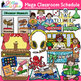 Class Schedule Clip Art {Back to School Supplies Graphics Mega Pack}