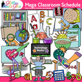 Class Schedule Clip Art {Back to School Supplies Graphics