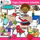Class Schedule Clip Art {MEGA PACK} - Back to School Suppl