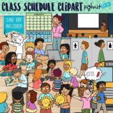 Class Schedule Clipart for a Routine Day at School