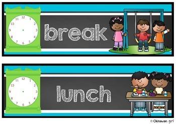 Class Schedule EDITABLE {for UK Teachers}