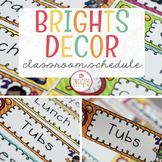EDITABLE DAILY VISUAL SCHEDULE CARDS {BRIGHTS CLASSROOM DECOR}