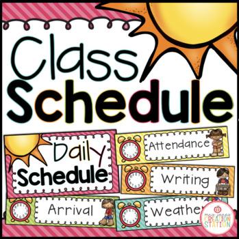 Class Schedule - Editable {Brights Classroom Set}
