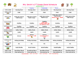 Class Schedule - Forest Theme - EDITABLE