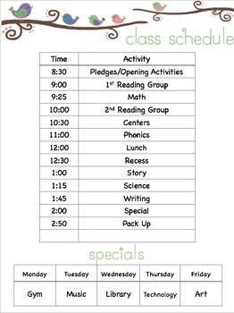Class Schedule (Free)