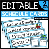 Editable Class Schedule Cards Serenity Series