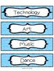 Editable Class Schedule Indicator Cards