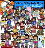 Class Schedule Kids Clip Art - Big set of 70 graphics!