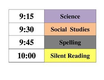Class Schedule Labels