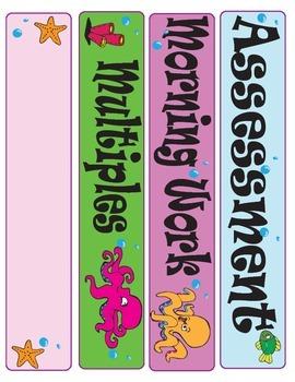 Class Schedule Labels: Octopus