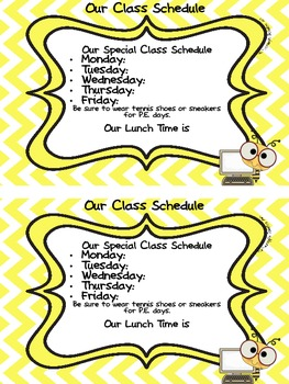 Class Schedule Magnet