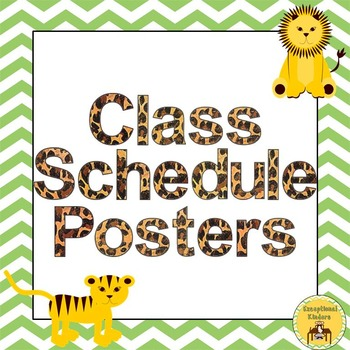 Class Schedule Posters - Jungle Animal Theme