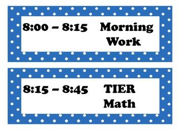 Class Schedule & Schedule Posters