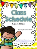 Class Schedule Signs & Cards