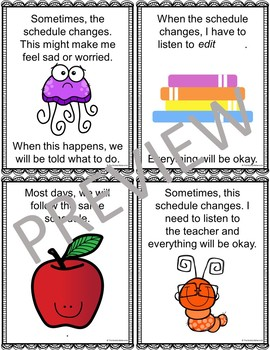 Class Schedule Social Story-Editable