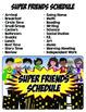 Class Schedule {Superhero Theme}