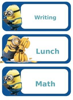 Minion Themed Class Schedule