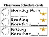 Class Schedule cards-emoji theme