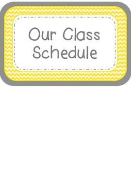 Class Schedule in Yellow Chevron