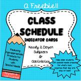 Class Schedule Indicator Cards