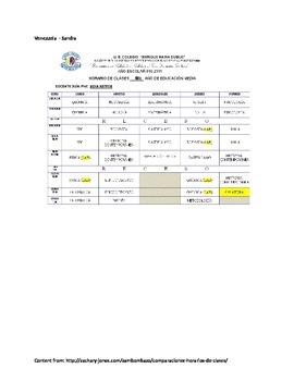 Class Schedules in Latin America - Language and Culture
