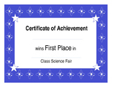 Class Science Fair: Atom Science Fair { Editable} Awards and Rubric