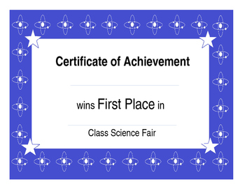 Class Science Fair: Atom Science Fair { Editable} Awards and Rubric