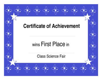 Class Science Fair: Atom Science Fair { Editable} Awards a