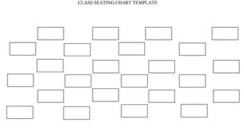Class Seating Chart Template (Landscape)