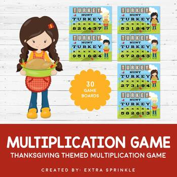 Class Set - Thanksgiving Turkey Hunt Multiplication Game