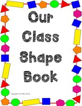 Class Shape Book Cover Page