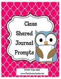Class Shared Journal Covers