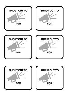 "Class ""Shout-Outs"""