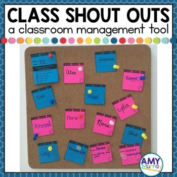 Class Shout Outs - a positive classroom management tool to end tattling!