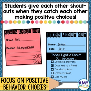 Class Shout Outs A positive classroom management tool to end tattling