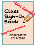 Class Sign-In Book | Daily Handwriting Practice | Morning Routine |