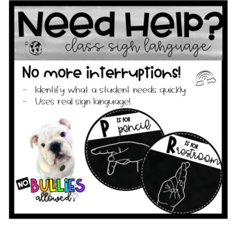 Class Sign Language Signs