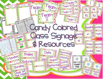 Class Signage and Resources - Candy Colored
