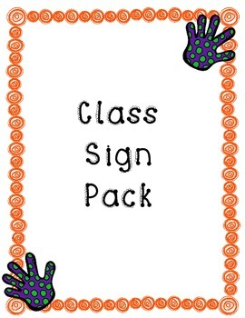 Class Signs Pack