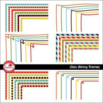 Class Skinny Frames Mega Pack Digital Borders Clipart by Poppydreamz